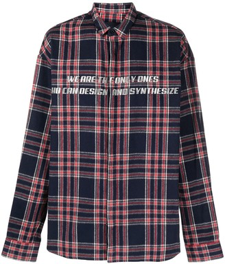 Juun.J Check Print Button-Up Shirt