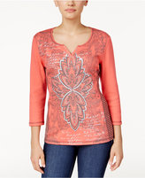 Karen Scott Graphic Top, Only at Macy's