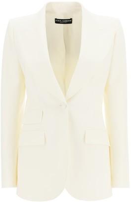 Dolce & Gabbana Turlington Jacket In Wool Natte