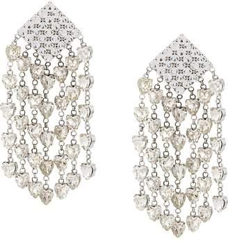 Alessandra Rich oversized embellished earrings