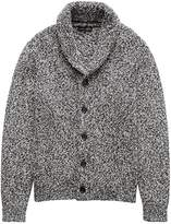 Banana Republic Marled Cotton Shawl-Collar Cardigan