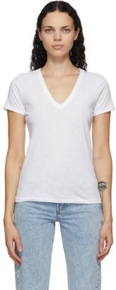 Rag & Bone White The Slub V-Neck T-Shirt