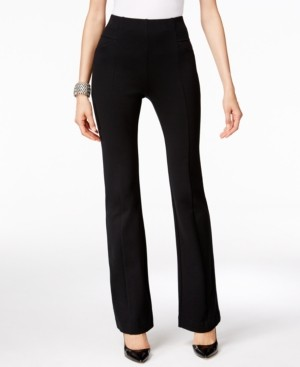INC International Concepts Inc High-Waist Curvy-Fit Bootcut Ponte Pants, Created for Macy's