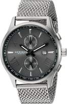 Akribos XXIV Men's AK905SSB Swiss Quartz Stainless Steel Dress Watch, Silver