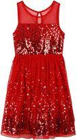 Speechless Girls 7-16 Confetti Sequin Illusion Dress
