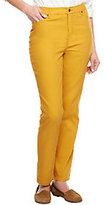 Liz Claiborne New York Regular Hepburn Slim Leg Colored Jeans