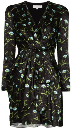 Borgo de Nor Ruffled Jacquard Mini Dress