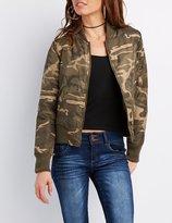 Charlotte Russe Camo Bomber Jacket