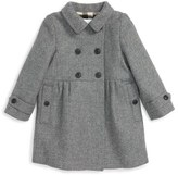 Burberry 'Coraline' Double Breasted Wool Blend Coat (Baby Girls)