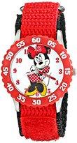 Disney Kids' W001916 Minnie Mouse Analog Display Analog Quartz Red Watch