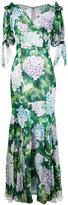 Dolce & Gabbana hydrangea print maxi dress - women - Silk/Cotton/Polyamide/Spandex/Elastane - 42