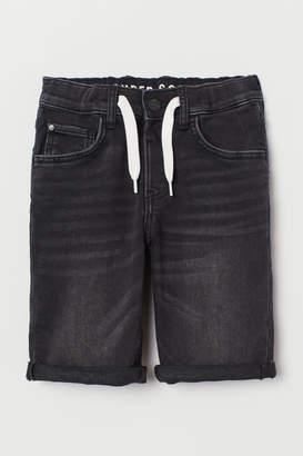 H&M Slim Fit Denim Shorts - Black