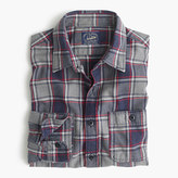 J.Crew Midweight flannel shirt in classic navy plaid