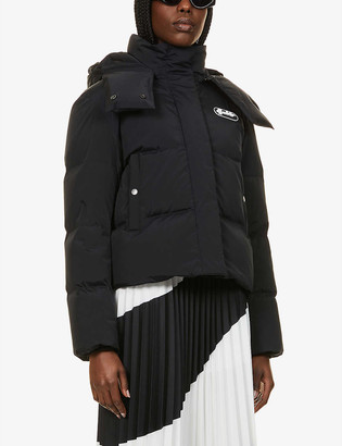 Off-White Padded funnel-neck shell-down hooded puffer jacket