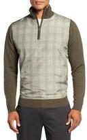 Bobby Jones Hybrid Merino Wool Quarter Zip Sweater