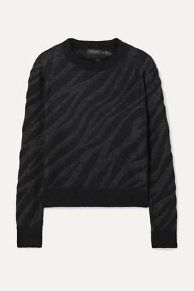 Rag & Bone Germain Metallic Alpaca-blend Jacquard-knit Sweater - Black