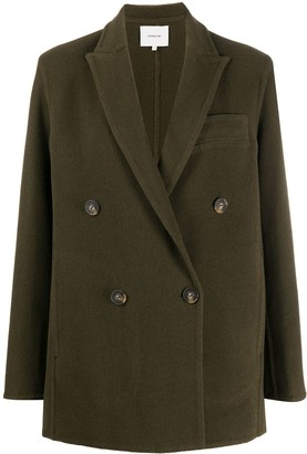 Vince Straight Double-Breasted Coat