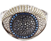 Delfina Delettrez Diamond silver eye two finger open ring