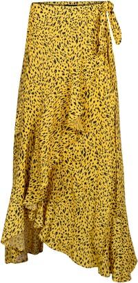 AFRM Amelia Ruffle Wrap Skirt