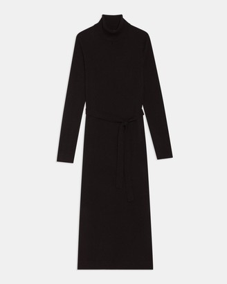Theory Belted Midi Dress in Cashmere