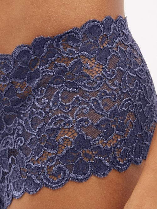 Thumbnail for your product : Hanro Moments Lace Boy-short Briefs - Dark Blue