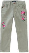 Lucky Brand Lily Pad Floral-Embroidered Isla Pants - Toddler & Girls