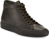 Common Projects Men's Basic Leather High-Top Sneakers, Black