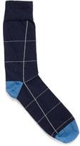 Corgi Windowpane Sock
