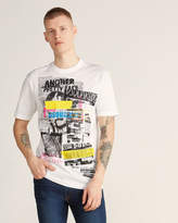 DSQUARED2 Mixed Media Short Sleeve Graphic Tee