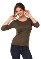 Happy Mama Boutique Happy Mama. Womens Maternity Nursing Double Layered Top Round Neckline. 988p (