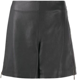 Lorena Antoniazzi Leather Zipped Shorts