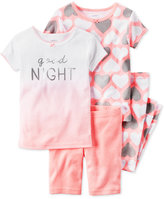 Carter's 4-Pc. Good Night Pajama Set, Baby Girls (0-24 months)