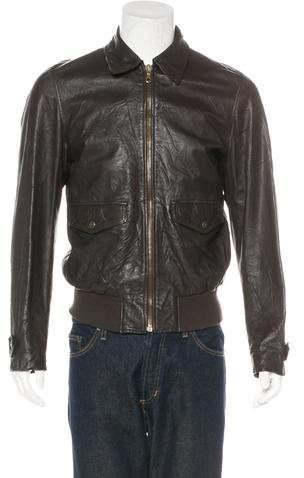 Dolce & Gabbana Collared Leather Jacket