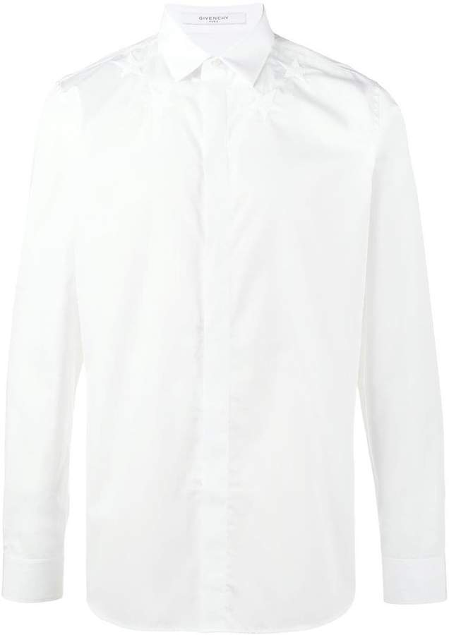 Givenchy star embroidered long sleeve shirt