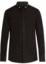 Givenchy Contemporary-fit star-collar single-cuff shirt