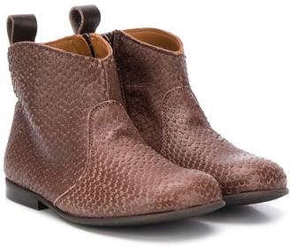 Pépé Snakeskin Ankle Boots
