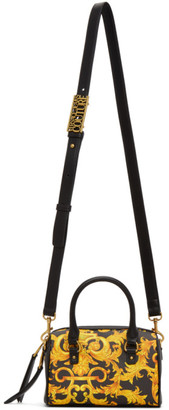Versace Jeans Couture Black Baroque Top Handle Bag