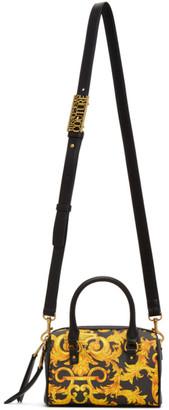 Versace Jeans Couture Black Baroque Top Handle Bag