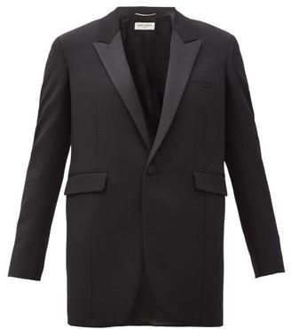 Saint Laurent Single-breasted Wool Grain-de-poudre Jacket - Black