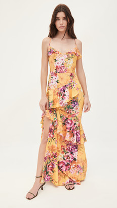 Marchesa Sleeveless High Low Gown