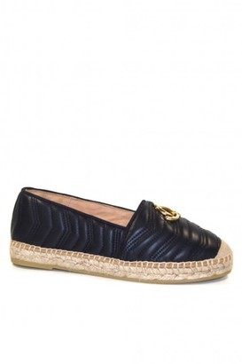 Kanna Dora Quilted Leather Espadrille - 36