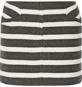 Maje Two-Tone Striped Woven Mini Skirt