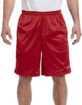 Champion Mens Long Mesh Shorts with Pockets, S162, M,