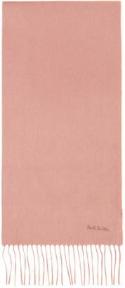 Paul Smith Pink Cashmere Scarf