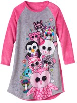 Girls 4-12 TY Beanie Boos Plush Nightgown