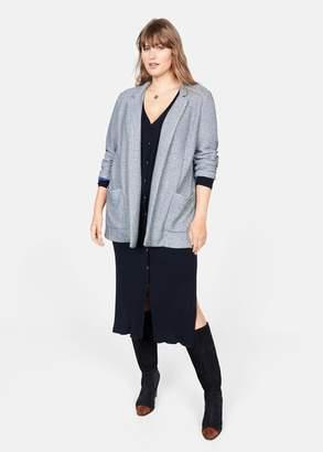 MANGO Violeta BY Pocket knit jacket dark navy - XS - Plus sizes