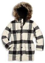 Ralph Lauren Toddler's, Little Girl's & Girl's Faux Fur-Trim Buffalo Check Coat