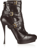 Alexander McQueen Buckled leather ankle boots