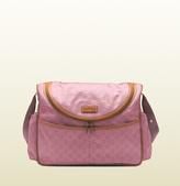 Gucci Dark Pink Nylon Guccissima Diaper Bag