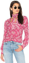 Majorelle Attache Blouse in Pink. - size S (also in XL,XS)